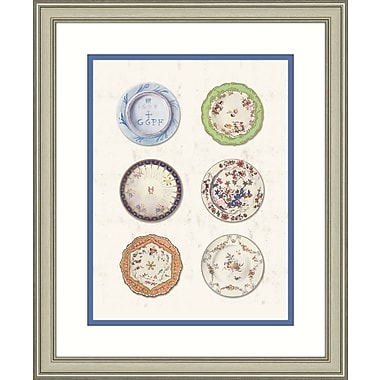 Melissa Van Hise Plates I Framed Graphic Art