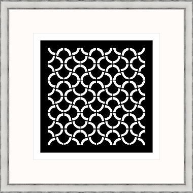 Melissa Van Hise Geometric 1 Framed Graphic Art; Black