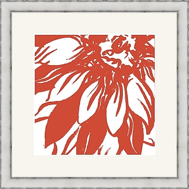 Melissa Van Hise Bloomy Burst I Framed Graphic Art; Red