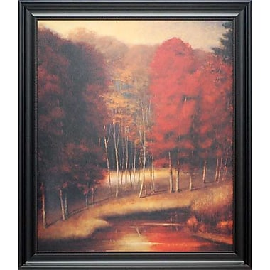 North American Art 'Vermilion Meadow' Framed Oil Painting Print