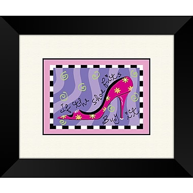 PTM Images The Shoe Fits B Framed Graphic Art