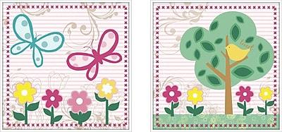 PTM Images 2 Piece Juvenile Flower Framed Art Set