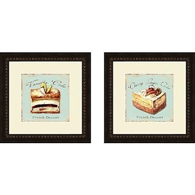 PTM Images Kitchen Vanilla Cake 2 Piece Framed Vintage Advertisement Set