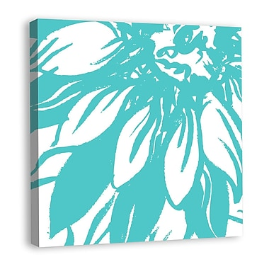Melissa Van Hise Bloomy Burst I Graphic Art on Wrapped Canvas; Aqua