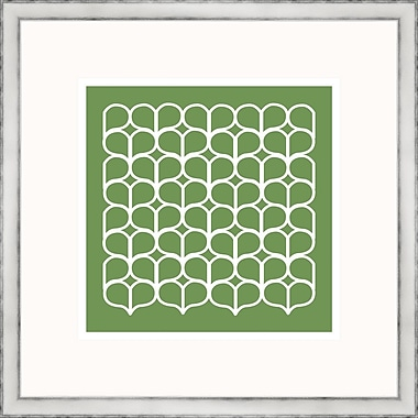 Melissa Van Hise Green Geometrics lV Framed Graphic Art