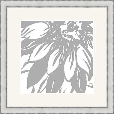 Melissa Van Hise Bloomy Burst I Framed Graphic Art; Gray