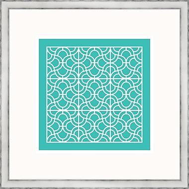 Melissa Van Hise Aqua Geometrics lll Framed Graphic Art