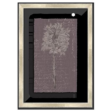 Melissa Van Hise Floral Stems w/ Writing IV Framed Graphic Art; Lavender