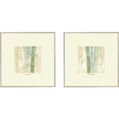 PTM Images Bath Serenity 2 Piece Framed Painting Print Set
