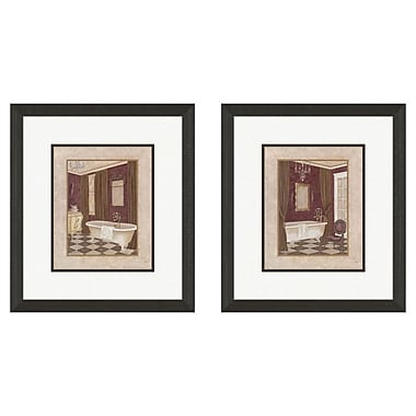 PTM Images Bath Luxury 2 Piece Framed Painting Print Set