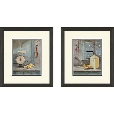 PTM Images Kitchen Grams Recipe 2 Piece Framed Painting Print Set
