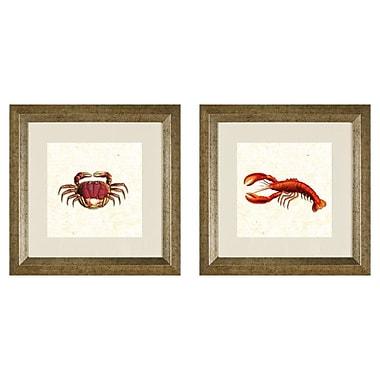 PTM Images Crabs 2 Piece Framed Graphic Art Set