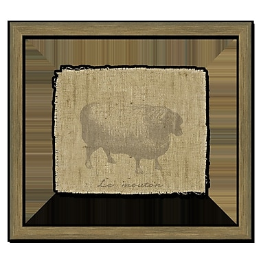 Melissa Van Hise Sheep I Framed Graphic Art; Taupe