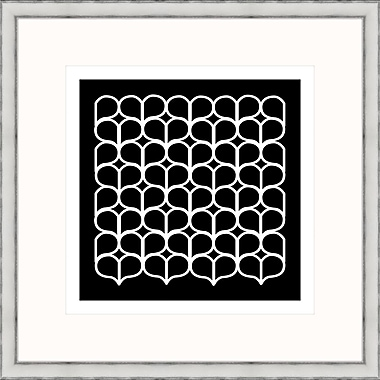 Melissa Van Hise Geometric 4 Framed Graphic Art; Black