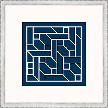 Melissa Van Hise Navy Geometrics ll Framed Graphic Art