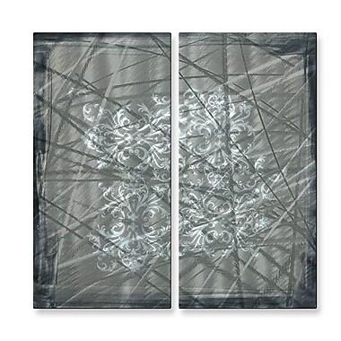 All My Walls 'Modern Design I' by Megan Duncanson 2 Piece Graphic Art Plaque Set (Set of 2)