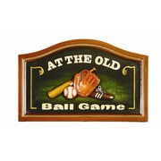 RAM Game Room Pub Framed Vintage Advertisement; At the old Ball Game