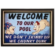 RAM Game Room Chunky Dunk Pool Framed Vintage Advertisement