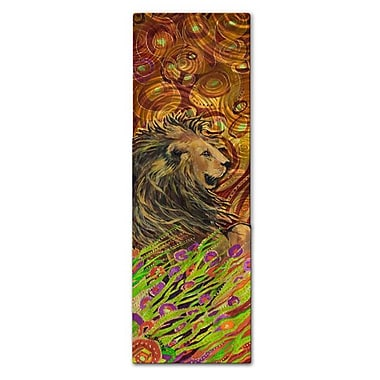 All My Walls 'Lion' by Nancy Jean Busse Painting Print Plaque
