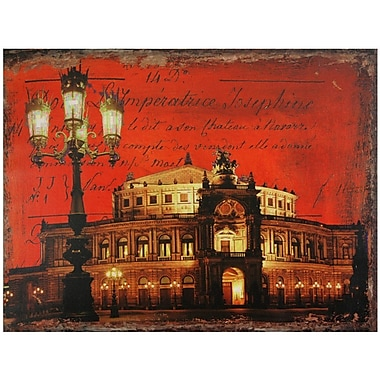 Oriental Furniture German Opera House Graphic Art on Wrapped Canvas
