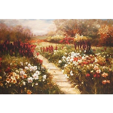 North American Art 'My Neighbor's Meadow' by Ian Cook Painting Print on Wrapped Canvas