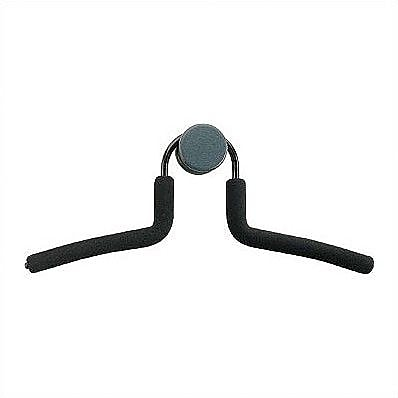 Peter Pepper Metal Hanger with Rubber Coating and Knob Set; Black