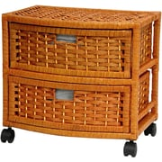Oriental Furniture 2-Drawer Storage Chest; Honey