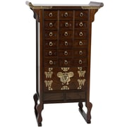 Oriental Furniture Korean 18 Drawer Herbal Medicine Chest