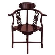 Oriental Furniture Corner Armchair; Rosewood