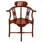 Oriental Furniture Corner Armchair; Honey