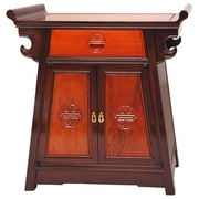 Oriental Furniture Altar 1 Drawer Accent Cabinet