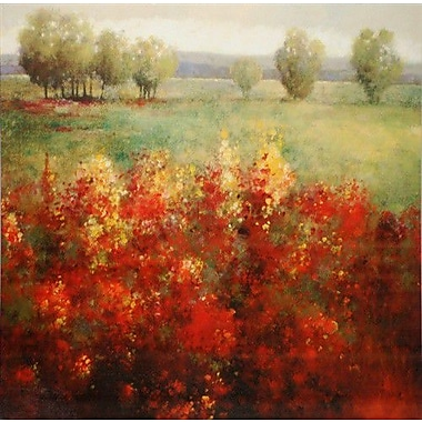North American Art Wide Open Places by L. Brosi Painting Print on Wrapped Canvas