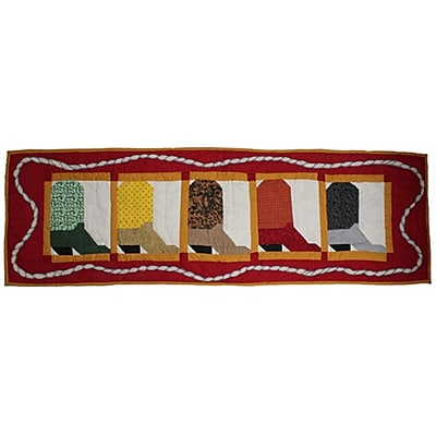 Patch Magic Boots Table Runner; 54'' W x 16'' L
