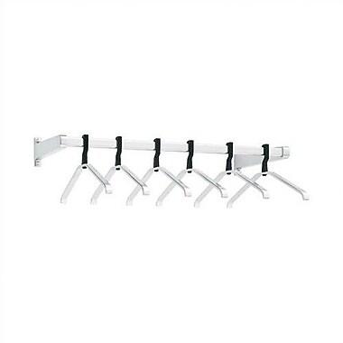 Peter Pepper Wall Mounted Coat Rack w/ 6 Self Aligning Hangers