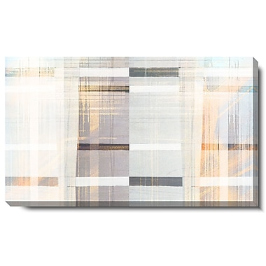 Studio Works Modern ''Gold Luxor Waves'' by Zhee Singer Graphic Art on Wrapped Canvas