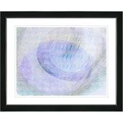 Studio Works Modern ''Wind Play - Blue'' by Zhee Singer Framed Graphic Art in Purple; Black
