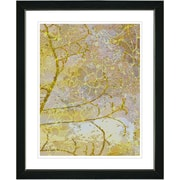 Studio Works Modern ''Gold Flower Branches'' by Zhee Singer Framed Graphic Art in Yellow; Black