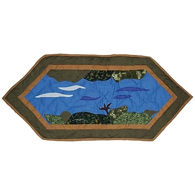 Patch Magic Fly Fishing Table Runner; 36'' W x 16'' L