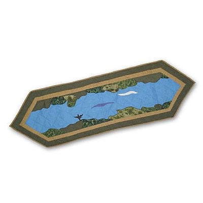 Patch Magic Fly Fishing Table Runner; 54'' W x 16'' L
