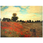 Oriental Furniture 'Poppies' by Claude Monet Painting Print on Wrapped Canvas