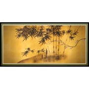 Oriental Furniture Bamboo Tree Framed Painting Print