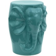 Oriental Furniture Carved Elephant Porcelain Garden Stool