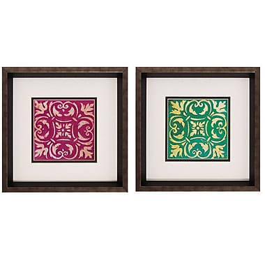Propac Images 'Mosaic Tile I / II' 2 Piece Framed Graphic Art Print Set