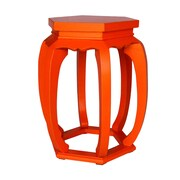 Antique Revival Diana Garden Stool; Orange