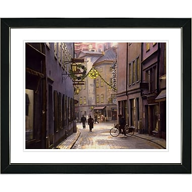 Studio Works Modern ''Old Town'' by Mia Singer Framed Graphic Art; Black