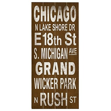Artehouse LLC Chicago Transit by Cory Steffen Textual Art Plaque