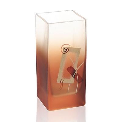 Womar Glass Geometric Glow Vase