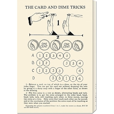 Global Gallery 'The Card and Dime Tricks' by Retromagic Vintage Advertisement on Wrapped Canvas