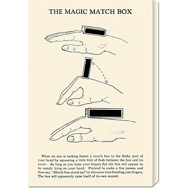 Global Gallery 'The Magic Match Box' by Retromagic Vintage Advertisement on Wrapped Canvas