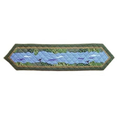 Patch Magic Fly Fishing Table Runner; 72'' W x 16'' L